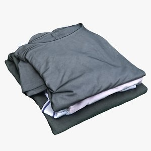 folded clothes sweaters 3D