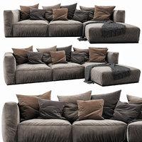 3D poliform shangai chaise lounge model