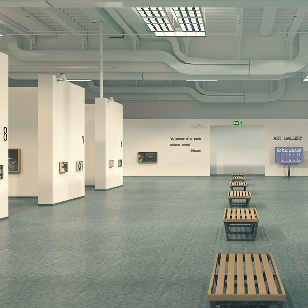 scene art gallery 3D