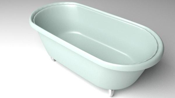 clawfoot bathtub 3D model