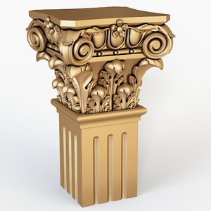 classical column 3D model