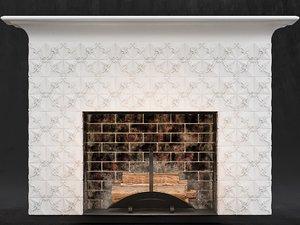 3D fireplace heating firebox