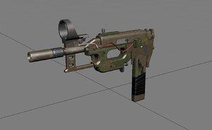3D pistol postapocalyptic