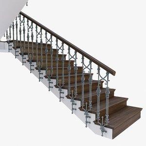 3D stair step model