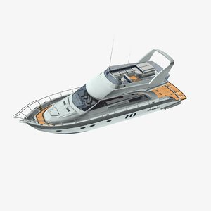 boat vehicle yacht 3D