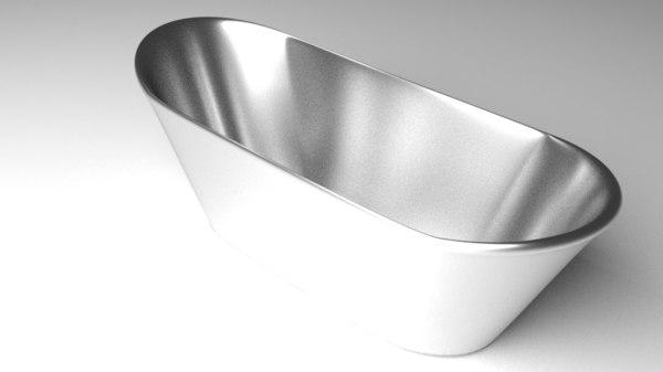 3D steel bathtub