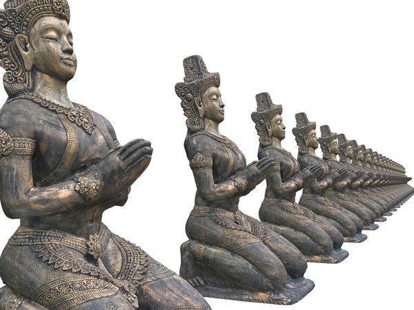 3D model ancient sculptures hd 8k