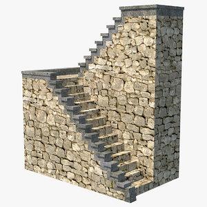 stone ladder 3D model