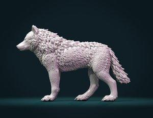 print ready wolf iii 3D model