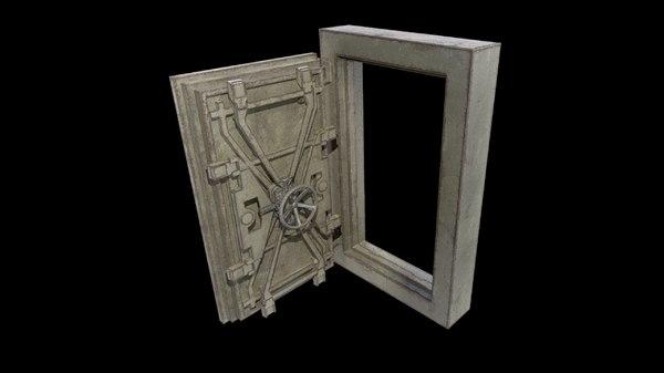 3D pbr metallic model