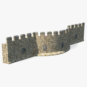 old stone wall 3D model