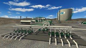 3D oil gas plant