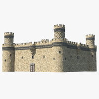 small medieval castle 3D model