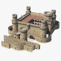 medieval castle set 3D model