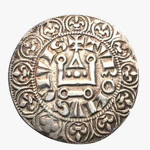 french silver tournose medieval 3D model