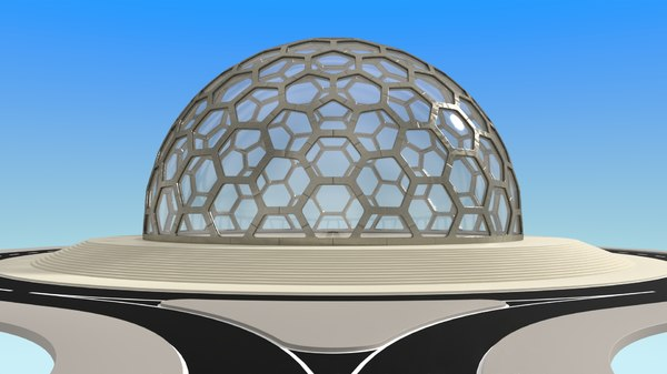 3D big glass dome