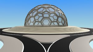 glass dome 3D