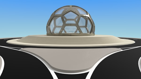small glass dome 3D model