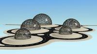 hexagon glass dome park