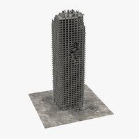 3D damaged building model