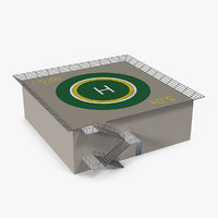 helicopter landing pad 3D model