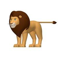lion cartoon 3D