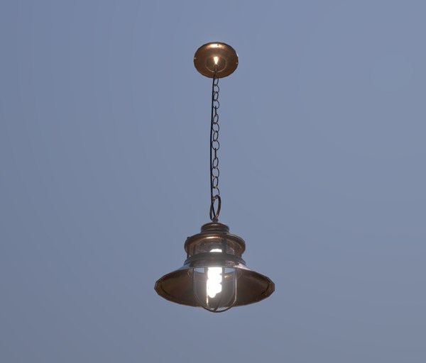3D hanging lamp copper model