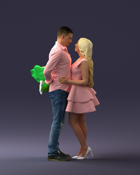 3D couple valentinday model
