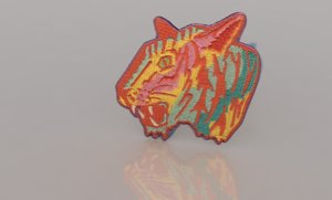 tiger patch 3D model