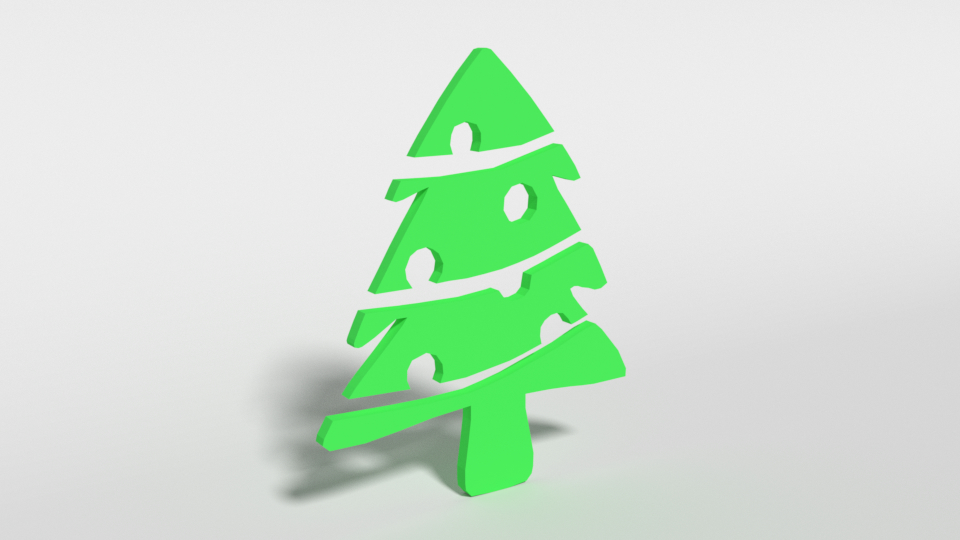 fir tree decorative object 3D model