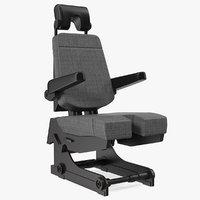 3D model pilot seat