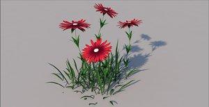 flower aster 3D