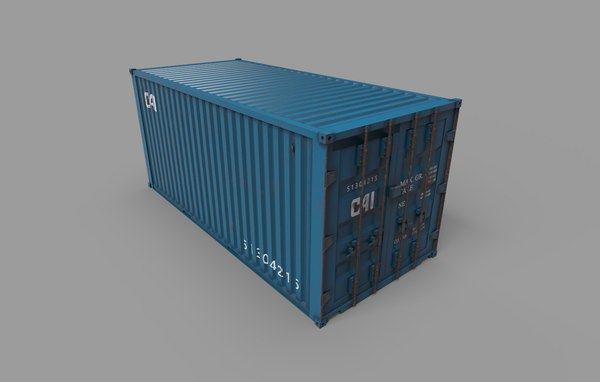 polygons container 3D model
