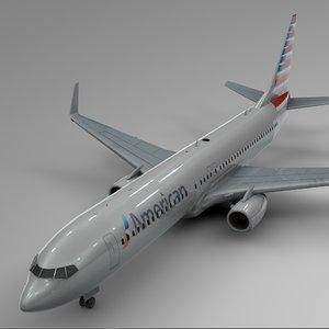 american airlines boeing 737-800 3D model