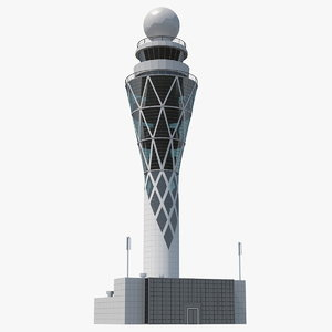 airport tower air 3D