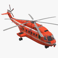 avicopter ac313 attack helicopter 3D model