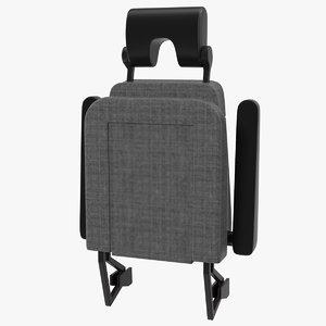 3D stewardess folded seat