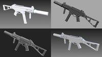 ump submachine gun 3D model