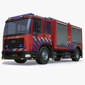 dutch firetruck 3D model