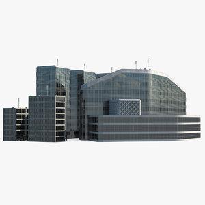 3D model airport building