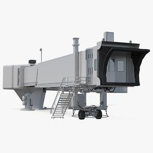 3D airport passenger boarding bridge model