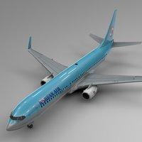 3D korean air boeing 737-800