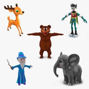cartoon characters 2 3D model