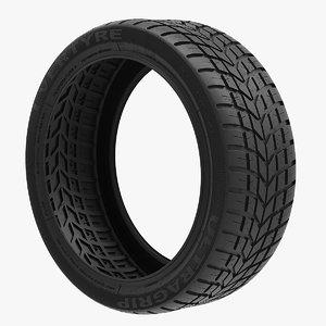 3D car tire v1 model