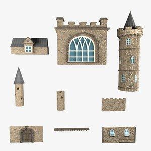 castle parts model