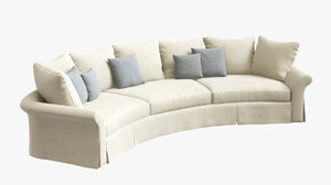 3D curved sofa