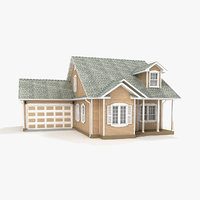 3D model one-story cottage 85