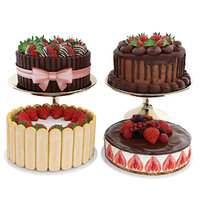 cake strawberry berry 3D model
