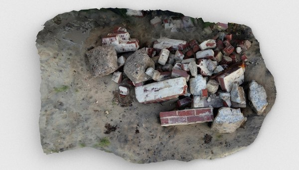 rubble pile debris 3D model