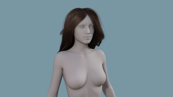3D model character hair